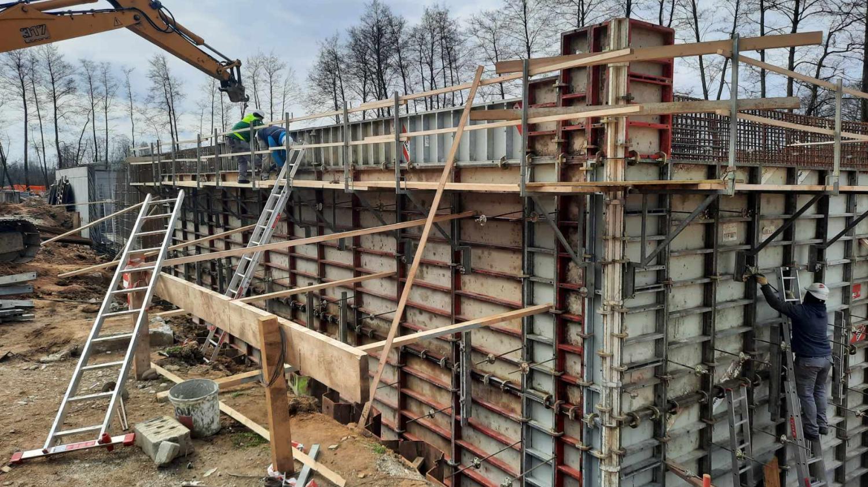 Izvedba del v sklopu izgradnje čistilne naprave Rače, marec 2021