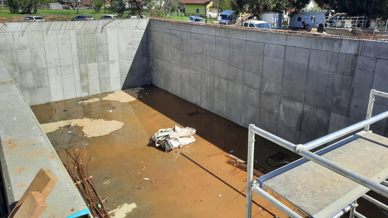 Izvedba del v sklopu izgradnje čistilne naprave Rače, april 2021