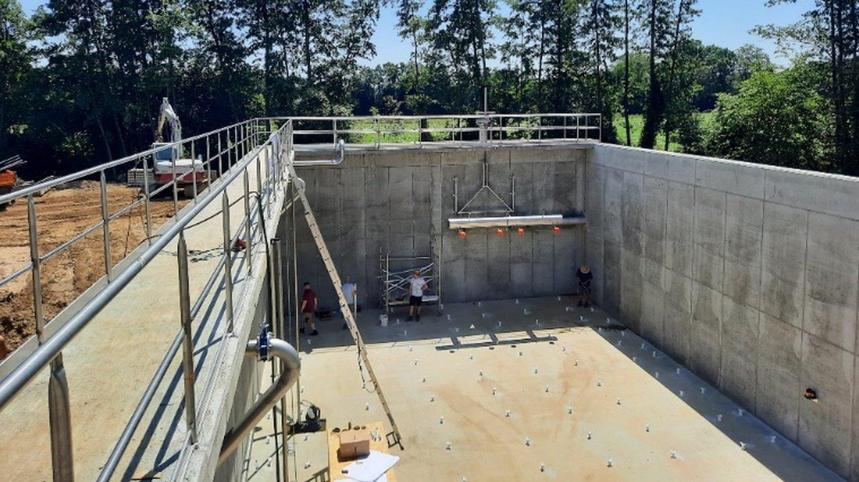 Izvedba del v sklopu izgradnje čistilne naprave Rače, junij 2021